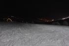 Pohled na noční Pec pod Sněžkou