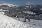 Odjezd na výcvik - v pozadí Sněžka