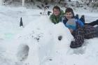 Sekundáni tvořili ze sněhu 2015