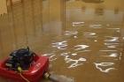 Odsávání vody při zásahu vltavotýnských dobrovolných hasičů
